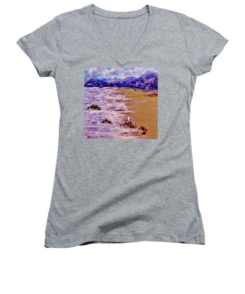 Summer Whispers.. Women's V-Neck T-Shirt (Junior Cut) by Cristina Mihailescu