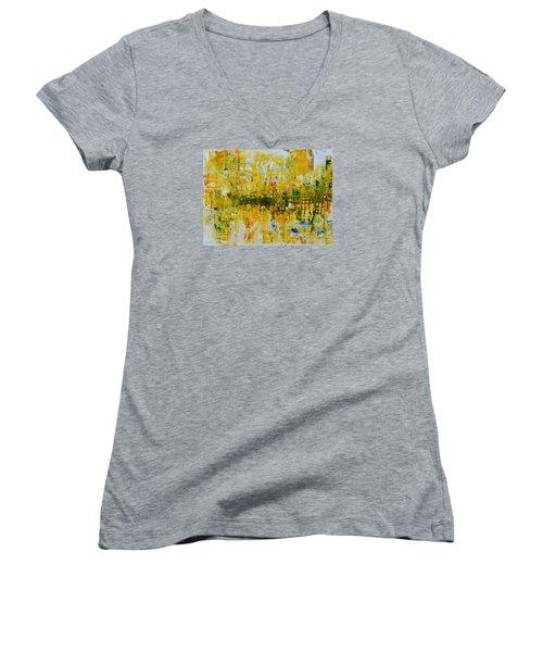 Sunburst Women's V-Neck T-Shirt (Junior Cut)