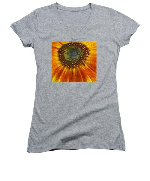 Sunflower Center Women's V-Neck T-Shirt