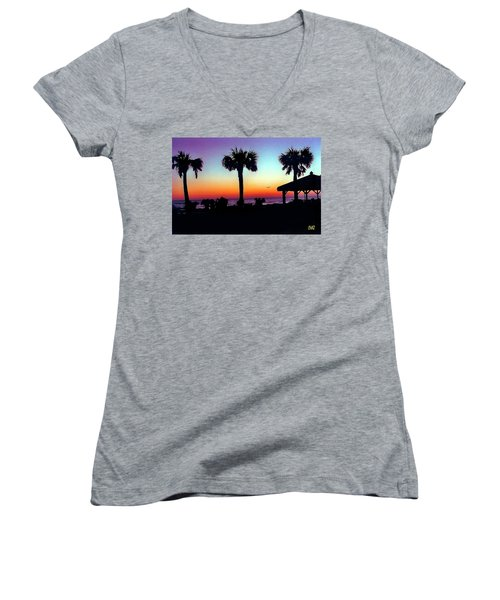 Sunrise On Ormond Beach Women's V-Neck T-Shirt