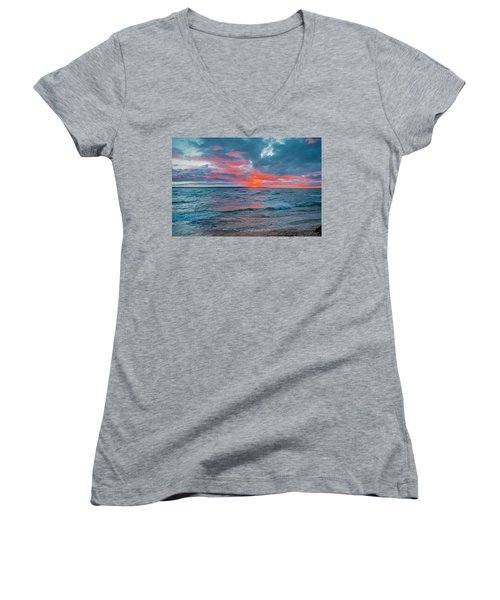 Superior Sunset Women's V-Neck T-Shirt