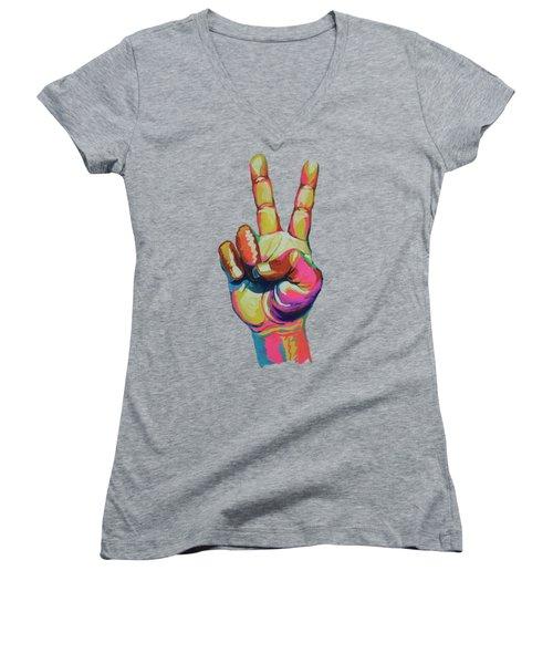 Symbol Women's V-Neck T-Shirt
