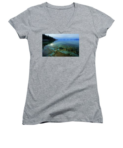 Tahoe Twilight Women's V-Neck (Athletic Fit)