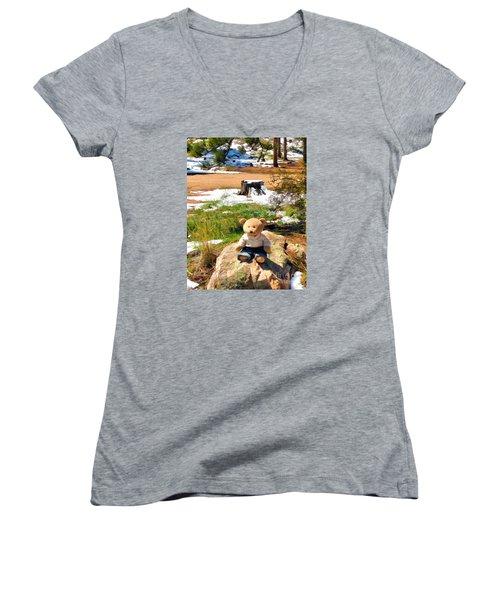 Takin' A Break Women's V-Neck T-Shirt