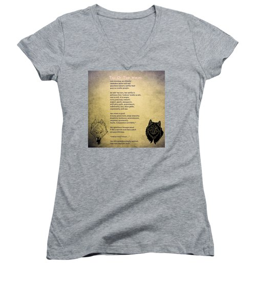 Tale Of Two Wolves - Art Of Stories Women's V-Neck