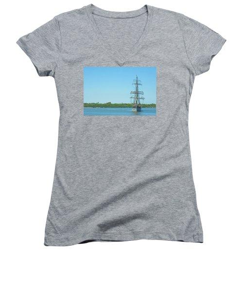 Tall Ship Elissa Women's V-Neck T-Shirt