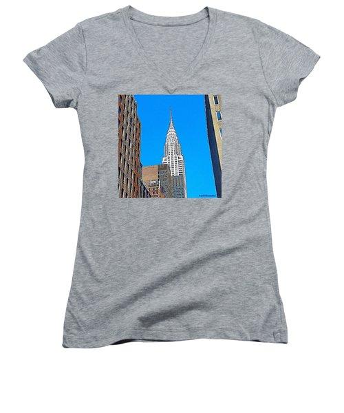 #tbt - #newyorkcity June 2013 Women's V-Neck T-Shirt