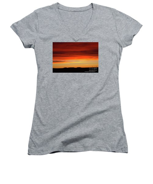 The Buttes At Sundown Women's V-Neck (Athletic Fit)
