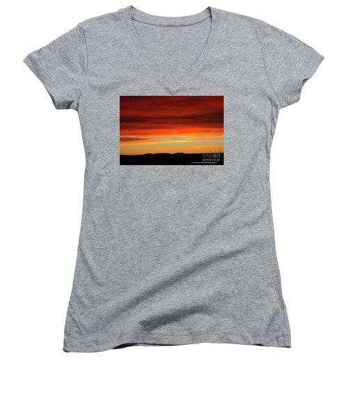 The Buttes At Sundown Women's V-Neck T-Shirt
