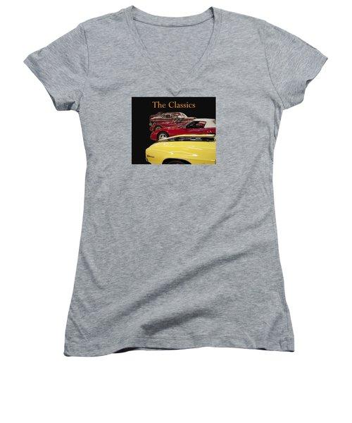 Women's V-Neck T-Shirt (Junior Cut) featuring the photograph The Classics by B Wayne Mullins
