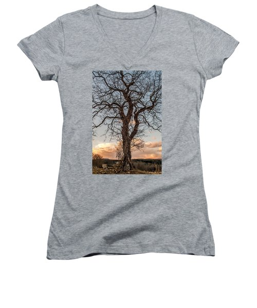 The End Of Another Day Women's V-Neck T-Shirt
