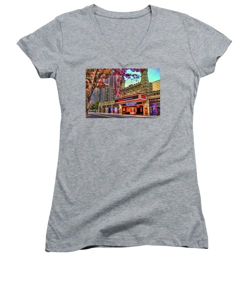 The Fabulous Fox Theatre Atlanta Georgia Art Women's V-Neck T-Shirt
