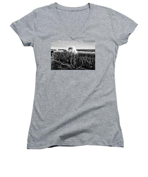 The Frozen Bike Women's V-Neck T-Shirt