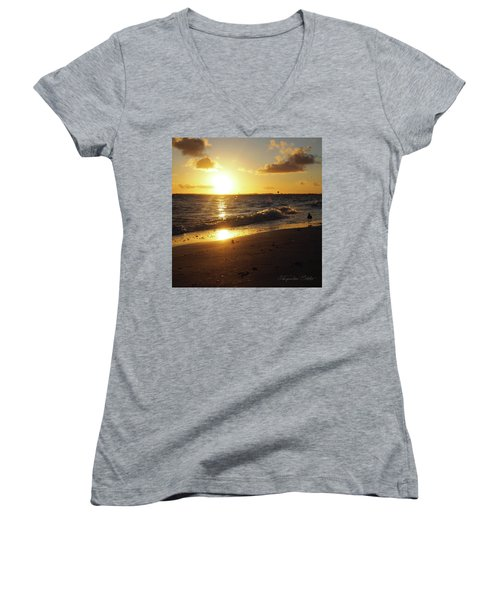 The Golden Hour Women's V-Neck