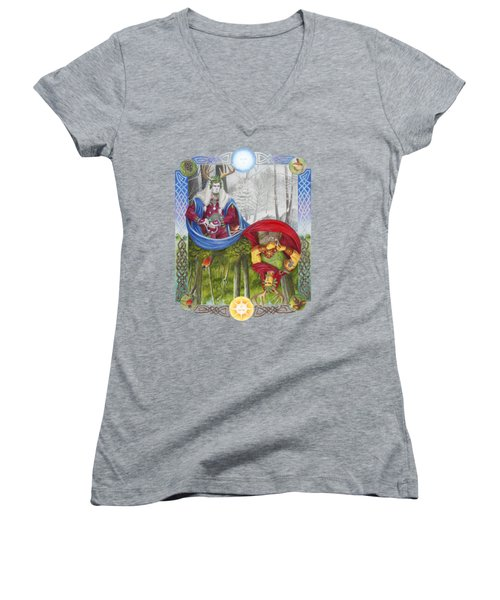 The Holly King And The Oak King Women's V-Neck (Athletic Fit)