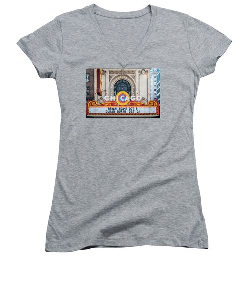 The Iconic Chicago Theater Sign Women's V-Neck