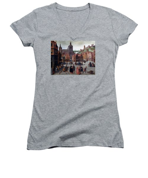 The Marketplace In Bergen Op Zoom Women's V-Neck