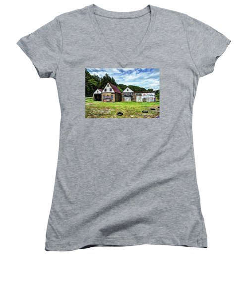 The Old Gas Station Women's V-Neck T-Shirt