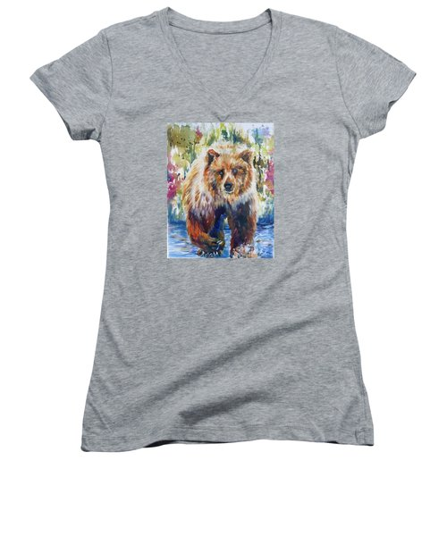 The Summer Bear Women's V-Neck (Athletic Fit)