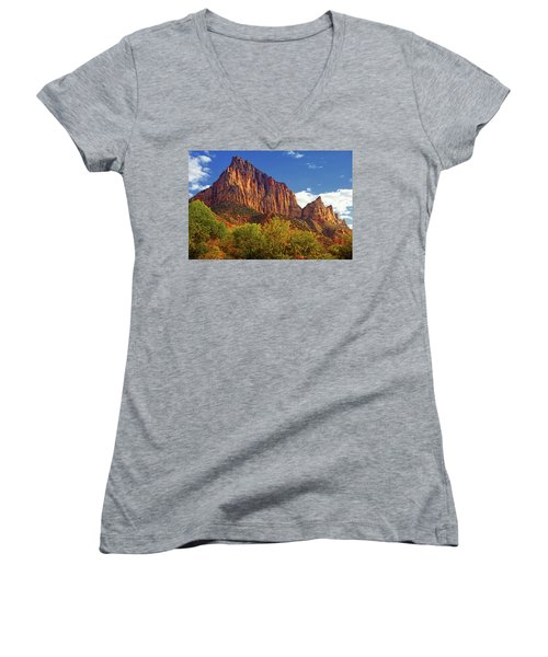 The Watchman Women's V-Neck T-Shirt (Junior Cut) by Raymond Salani III