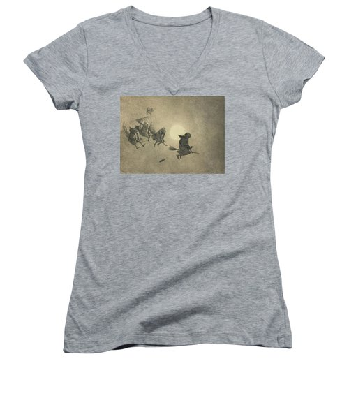 The Witches' Ride Women's V-Neck