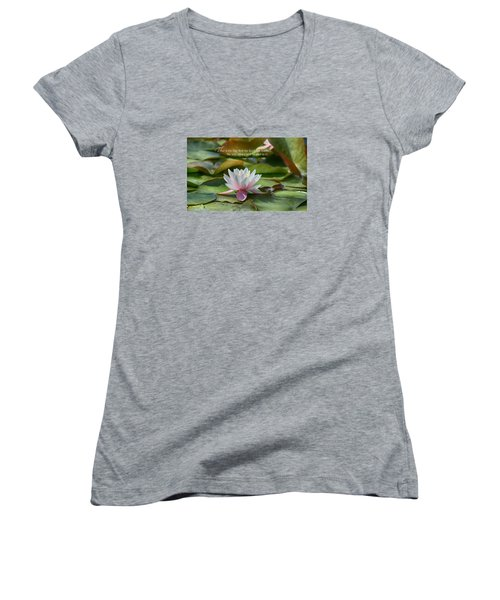 This Is The Day Women's V-Neck T-Shirt (Junior Cut) by Lynn Hopwood