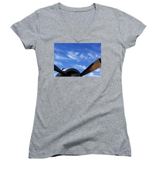 Time Flies Women's V-Neck T-Shirt
