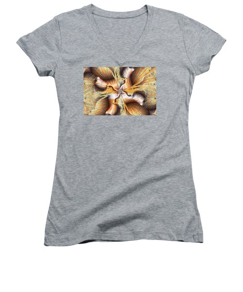 Toffee Pull Women's V-Neck T-Shirt (Junior Cut) by Jim Pavelle