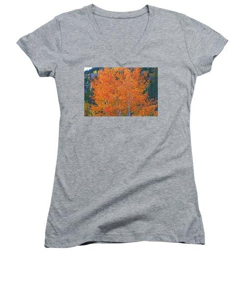Translucent Aspen Orange Women's V-Neck