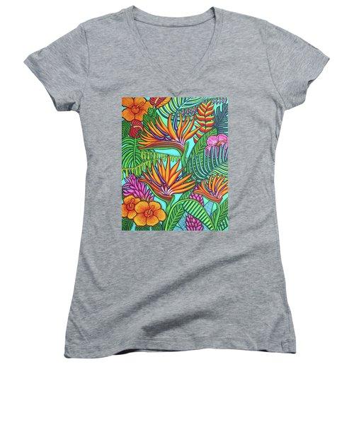 Tropical Gems Women's V-Neck