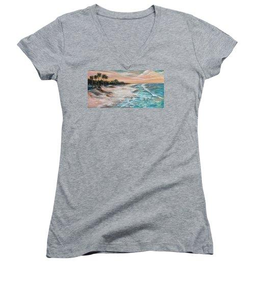 Tropical Shore Women's V-Neck