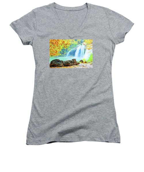 Turner Falls Women's V-Neck T-Shirt