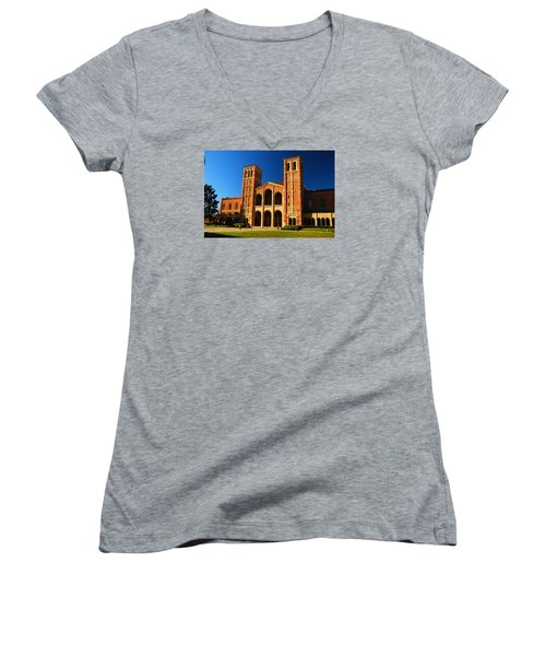 Ucla Women's V-Neck T-Shirt (Junior Cut) by James Kirkikis