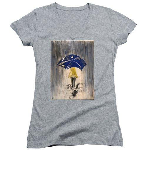 Umbrella Girl Women's V-Neck (Athletic Fit)