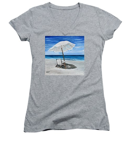 Under The Umbrella Women's V-Neck (Athletic Fit)