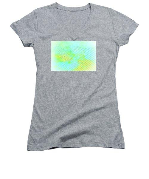 Vacation Denied Women's V-Neck T-Shirt (Junior Cut) by Glenn Gemmell