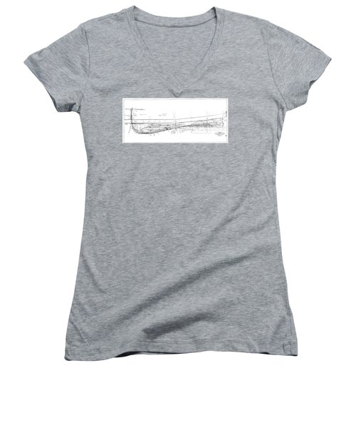 Valuation Map Boct Women's V-Neck (Athletic Fit)