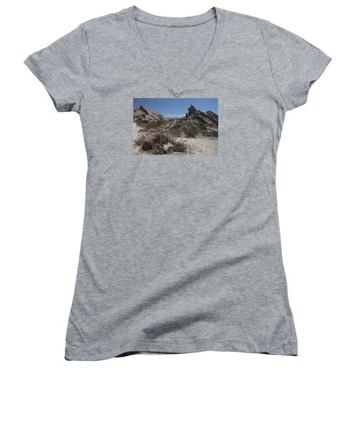 Women's V-Neck T-Shirt (Junior Cut) featuring the photograph Vasquez Rocks by Ivete Basso Photography