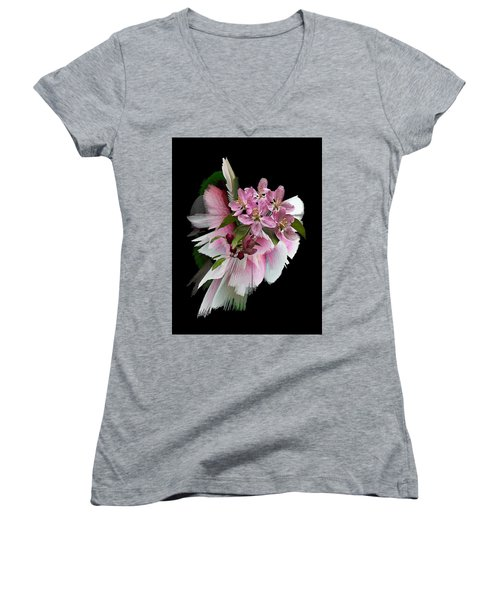 Women's V-Neck T-Shirt (Junior Cut) featuring the photograph Waiting For Spring by Judy Johnson