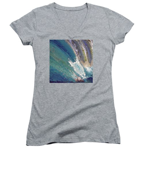 Waterfalls 2 Women's V-Neck T-Shirt (Junior Cut) by Karen Nicholson