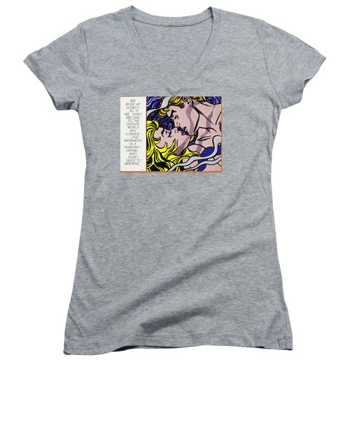 We Rose Up Slowly Women's V-Neck (Athletic Fit)