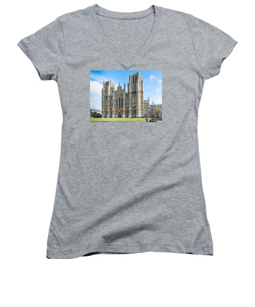 Wells Cathedral Women's V-Neck (Athletic Fit)