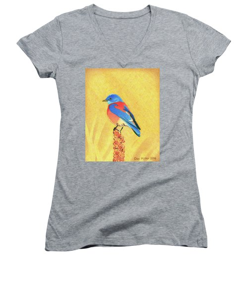 Western Bluebird Women's V-Neck
