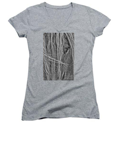 Wild Women's V-Neck T-Shirt