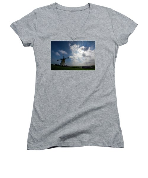 Windmill Women's V-Neck T-Shirt