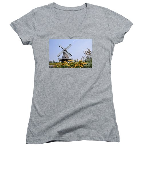Windmill Women's V-Neck T-Shirt (Junior Cut)