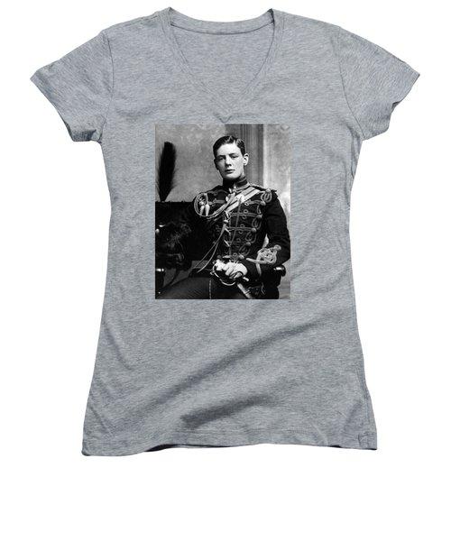 Winston Churchill  Women's V-Neck