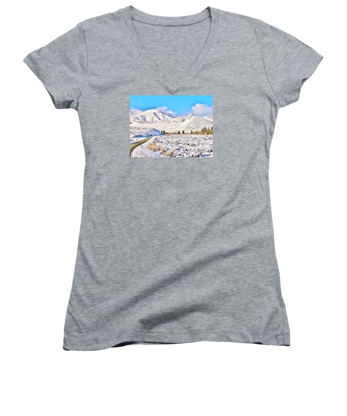 Winter Driving Women's V-Neck (Athletic Fit)