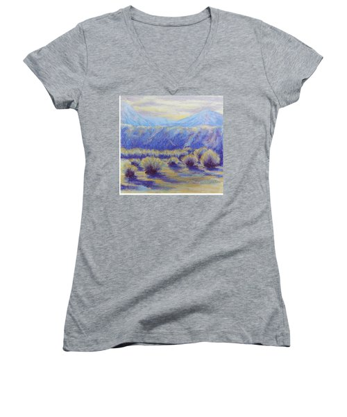 Winter Morning Riverbend Women's V-Neck T-Shirt