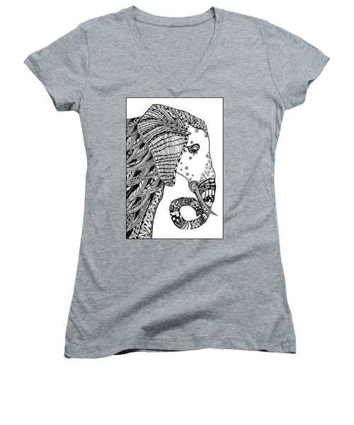 Wise Elephant Women's V-Neck